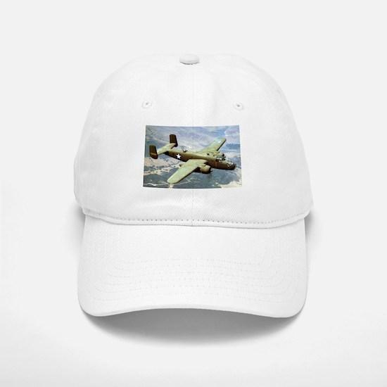 B-25 In Flight Baseball Baseball Cap
