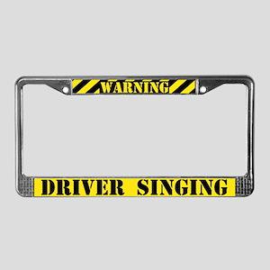 Singing Driver License Plate Frame