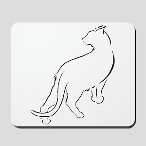 Cat Lookiing Over Shoulder Mousepad