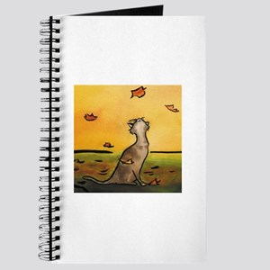 Falling Leaf Cat Journal
