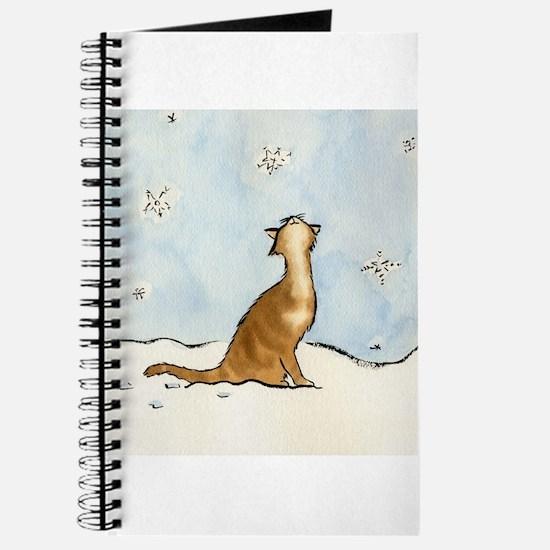 Snowflake Cat Journal