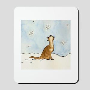 Snowflake Cat Mousepad