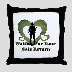 safe return Throw Pillow