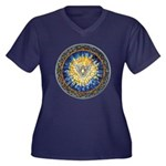 Holy Spirit Women's Plus Size V-Neck Dark T-Shirt