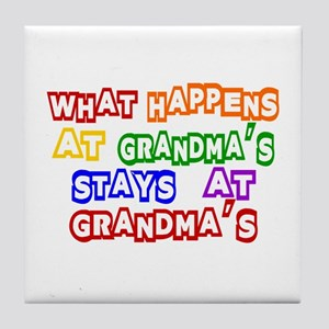 What Happens at Grandma's Sta Tile Coaster