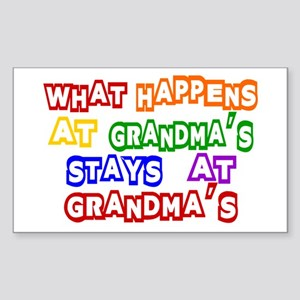 What Happens at Grandma's Sta Sticker (Rectangle)