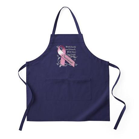 Breast Cancer Survivor Apron (dark)