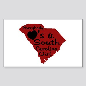 Everybody Loves a SC Girl (GB Sticker (Rectangle)