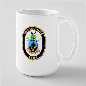 LHD 7 USS Iwo Jima Large Mug