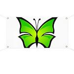 A Green Butterfly Banner