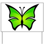 A Green Butterfly Yard Sign