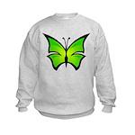 A Green Butterfly Kids Sweatshirt