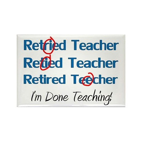 retired teacher Rectangle Magnet (100 pack)