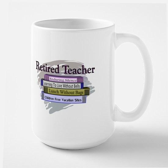 retired teacher Large Mug