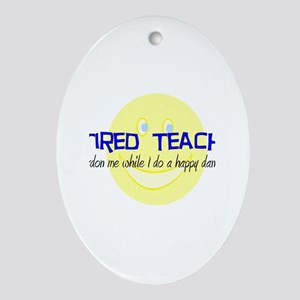retired teacher Ornament (Oval)