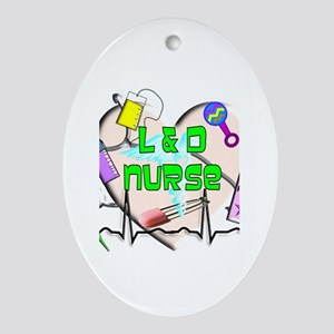 Labor & Delivery Nurse Ornament (Oval)