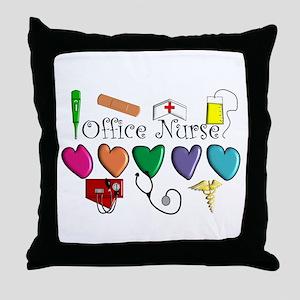 Office Nurse Throw Pillow