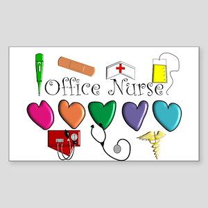 Office Nurse Sticker (Rectangle 10 pk)