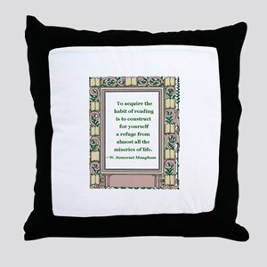 The Habit of Reading Throw Pillow