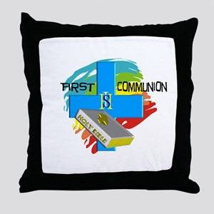 First Communion Throw Pillow