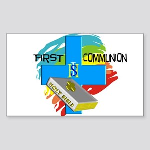 First Communion Sticker (Rectangle 10 pk)
