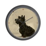 Vintage style Scottish Terrier Wall Clock