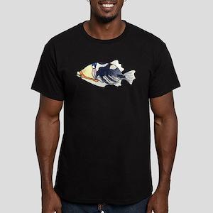 Humu Fish Men's Fitted T-Shirt (dark)