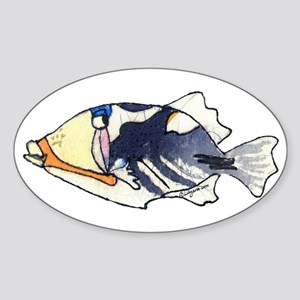 Humu Fish Sticker (Oval)