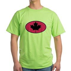Black Maple Leaf Green T-Shirt
