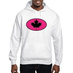 Black Maple Leaf Hooded Sweatshirt
