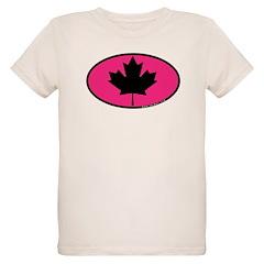 Black Maple Leaf Organic Kids T-Shirt
