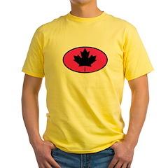 Black Maple Leaf Yellow T-Shirt