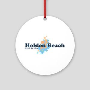 "Holden Beach NC ""Seashells"" Design Ornament (Round"