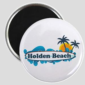 "Holden Beach NC ""Surf"" Design Magnet"