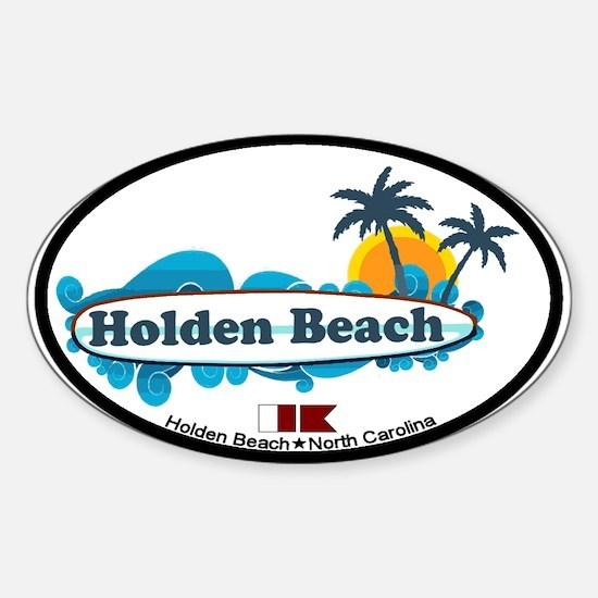 "Holden Beach NC ""Surf"" Design Decal"
