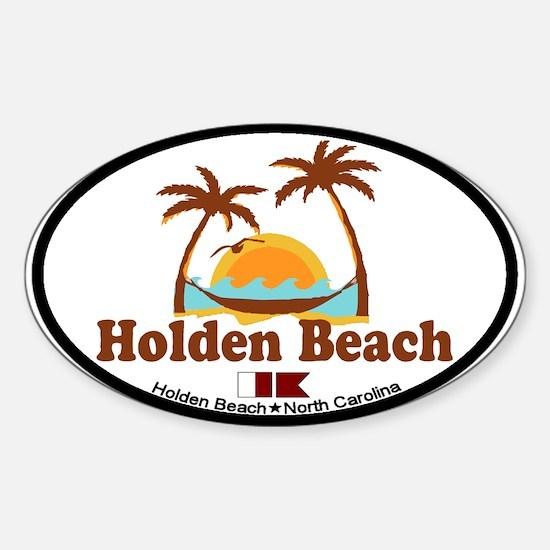 "Holden Beach NC ""Sun and Palm Trees"" Design Sticke"