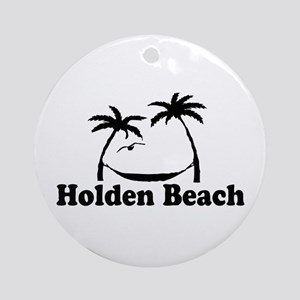 """Holden Beach NC """"Sun and Palm Trees"""" Design Orname"""