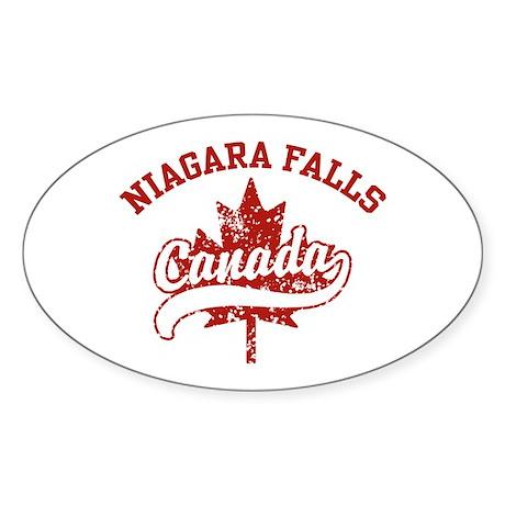 CafePress Niagra Falls Oval Sticker Sticker Oval 116493373
