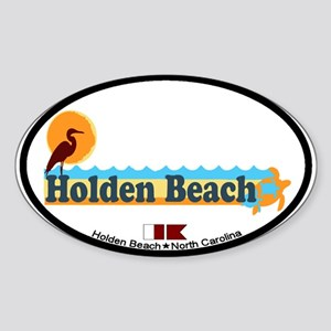 "Holden Beach NC ""Beach"" Design Sticker ("