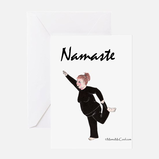 Funny Namaste Greeting Card