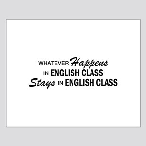 Whatever Happens - English Class Small Poster