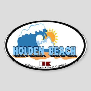 """Holden Beach NC """"Waves"""" Design Sticker ("""