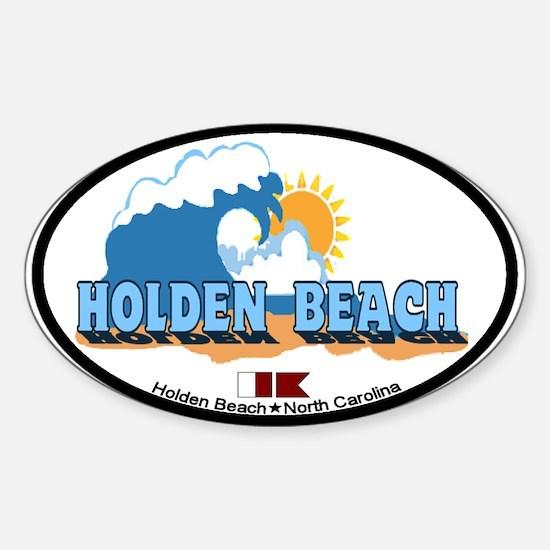 "Holden Beach NC ""Waves"" Design Decal"
