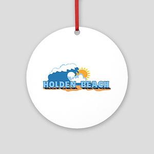 """Holden Beach NC """"Waves"""" Design Ornament (Round)"""