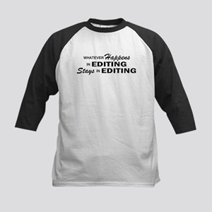 Whatever Happens - Editing Kids Baseball Jersey