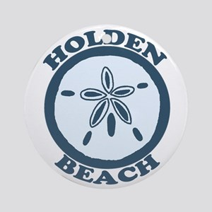 "Holden Beach NC ""Sand Dollar"" Design Ornament (Rou"