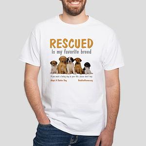 My Favorite Breed White T-Shirt