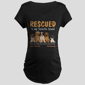 My Favorite Breed Maternity Dark T-Shirt