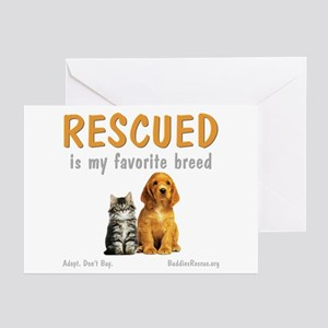 My Favorite Breed Greeting Cards (Pk of 20)