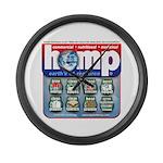 Hemp: Earth's #1 Resource Log Large Wall Clock